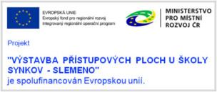 Výstavba přístupových ploch u školy Synkov - Slemeno