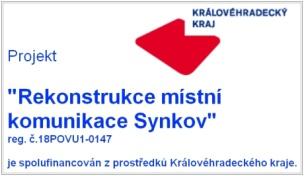 Rekonstrukce místní komunikace Synkov
